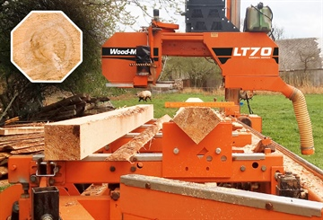 Create Octagon-Shaped Beams with New Sawmill Bed Attachment